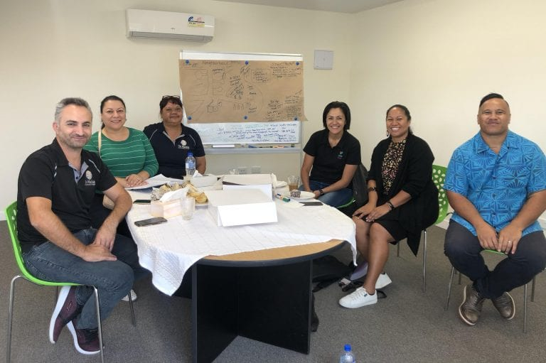 Te Mahia Managers Roger, Rima and Maxine meeting with our Healthy Families South Auckland team.